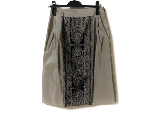 DAMAcollection(ダーマコレクション) スカート レディース グレーベージュ×黒