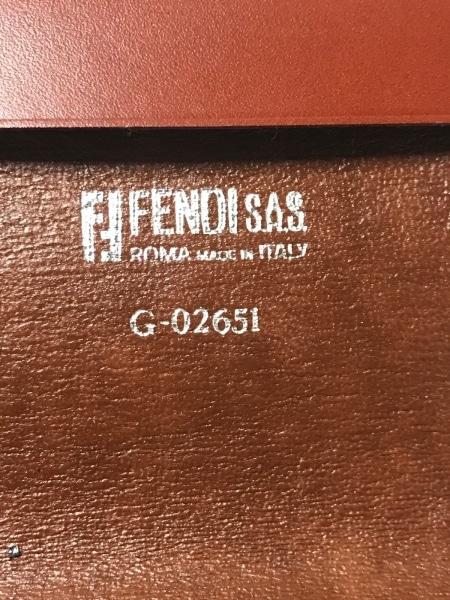 FENDI(フェンディ) 小物入れ ズッカ柄 - ベージュ×黒×ブラウン 証明書ケース