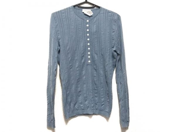 CELINE(セリーヌ) 長袖セーター サイズS レディース ライトブルー カシミヤ