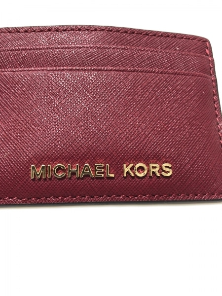 MICHAEL KORS(マイケルコース) カードケース ボルドー レザー
