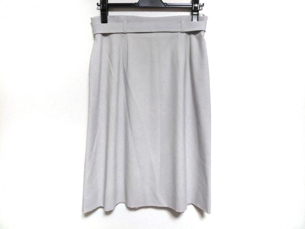 GIVENCHY(ジバンシー) スカート サイズ42 L レディース美品  ライトグレー
