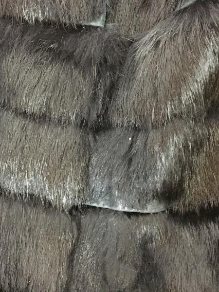 ENCHANTEMENT...?(アンシャントマン) コート サイズ38 M レディース 黒 ファー/冬物