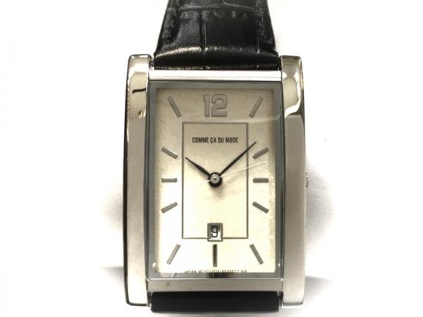 COMME CA DU MODE(コムサ) 腕時計美品  G700-06 レディース 革ベルト アイボリー