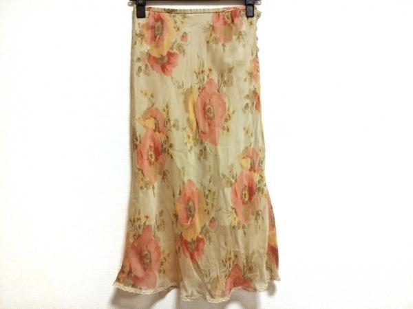 フランコフェラーロ ロングスカート サイズ2 M レディース美品  シルク/花柄
