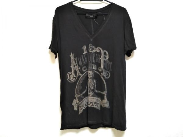 シェアスピリット 半袖Tシャツ サイズL メンズ ダークグレー×ライトグレー×グレー