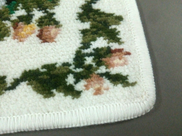 FEILER(フェイラー) ハンカチ美品  白×ダークグリーン×マルチ 4