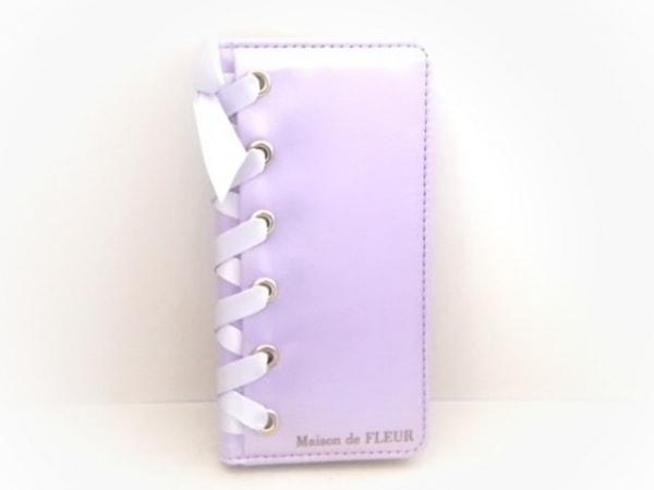 Maison de FLEUR(メゾンドフルール) 携帯電話ケース パープル iPhone7対応 サテン
