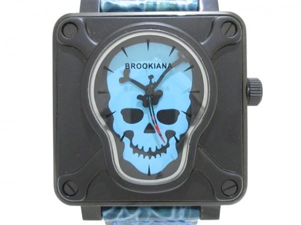 BROOKIANA(ブルッキアーナ) 腕時計美品  BA-1661 メンズ ライトブルー×黒