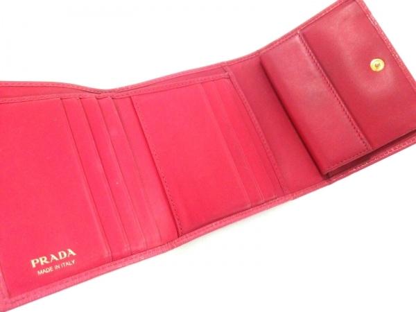 PRADA(プラダ) 3つ折り財布 - ピンク ヴィッテロムーブ(レザー) 3