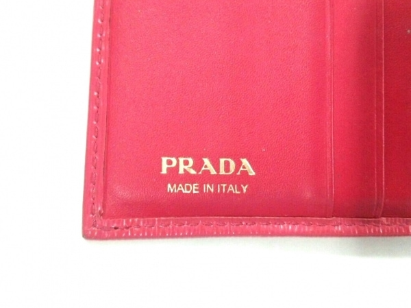 PRADA(プラダ) 3つ折り財布 - ピンク ヴィッテロムーブ(レザー) 5