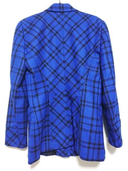 ESCADA(エスカーダ) ジャケット サイズ34 S レディース ブルー×黒 チェック柄