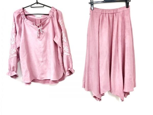 ローズティアラ スカートセットアップ サイズ38 M レディース ピンク 刺繍/花柄
