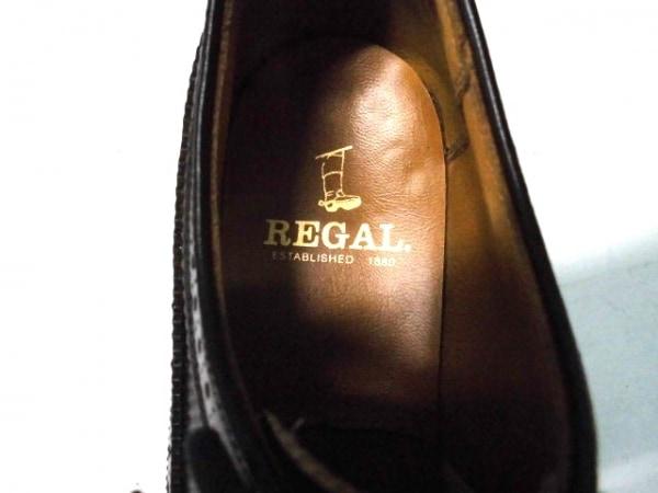 REGAL(リーガル) シューズ 24 1/2  メンズ ダークブラウン ウイングチップ レザー