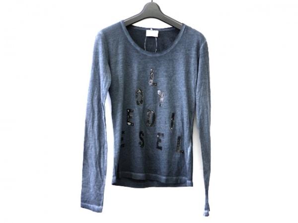 DIESEL(ディーゼル) 長袖Tシャツ サイズXS レディース ダークグレー×黒×シルバー