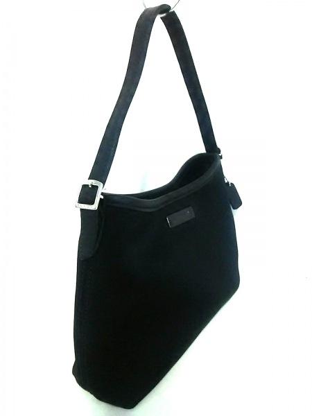 COACH(コーチ) ハンドバッグ美品  - 6236 黒 ポリウレタン×レザー