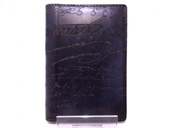 berluti(ベルルッティ) カードケース カリグラフィ パープル レザー