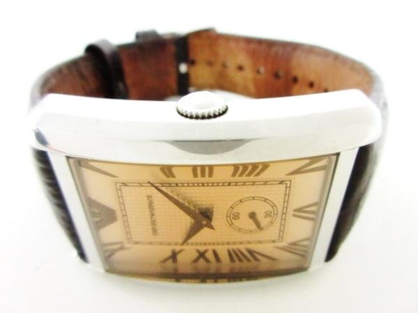 EMPORIOARMANI(アルマーニ) 腕時計 AR-1605 メンズ 革ベルト ベージュ