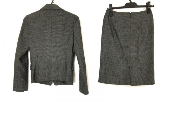 ナチュラルビューティー ベーシック スカートスーツ サイズM レディース 黒×白