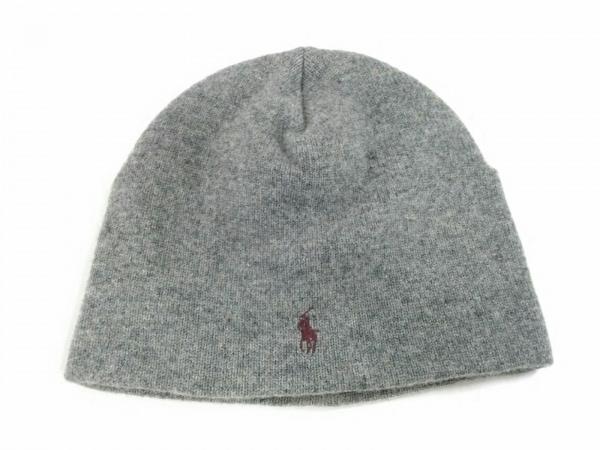 POLObyRalphLauren(ポロラルフローレン) ニット帽美品  グレー ウール×アクリル