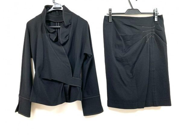 シトラスノーツ スカートスーツ サイズ11 M レディース 黒 カシュクール/フリル