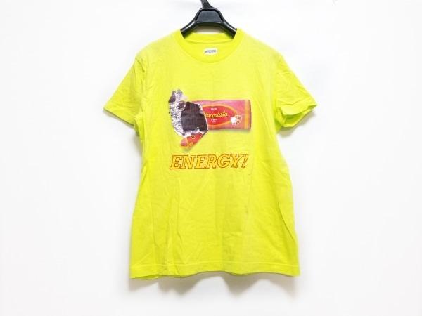 モスキーノ 半袖Tシャツ サイズ42I レディース ライトグリーン×マルチ JEANS