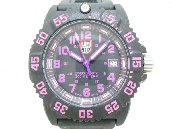 LUMINOX(ルミノックス) 腕時計美品  シールズ 7050 レディース 黒×パープル