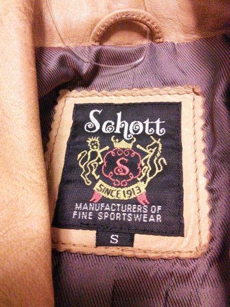 schott(ショット) ブルゾン サイズS メンズ ベージュ ジップアップ/冬物