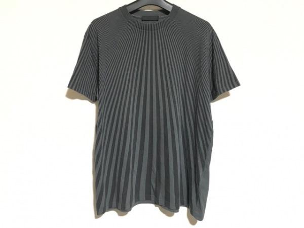PRADA(プラダ) 半袖Tシャツ サイズS メンズ 黒×グレー