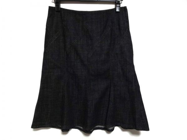 バーバリーロンドン スカート サイズ40 L レディース美品  - - 黒 ひざ丈/デニム