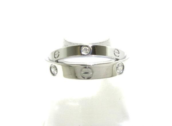 Cartier(カルティエ) リング 50美品  ビーラブリング K18WG×ダイヤモンド 6Pダイヤ