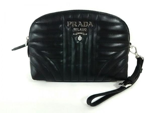 PRADA(プラダ) ポーチ美品  - 1NE010 黒 レザー