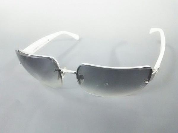 シャネル サングラス 4107-B グレー×アイボリー×シルバー プラスチック×金属素材