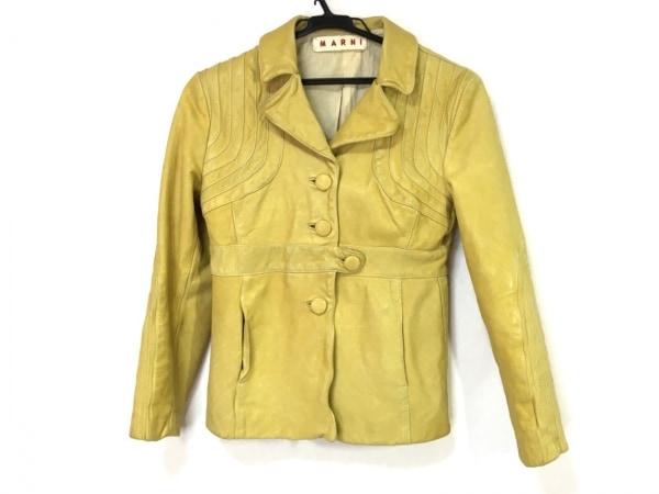 MARNI(マルニ) ジャケット サイズ38 S レディース イエロー レザー