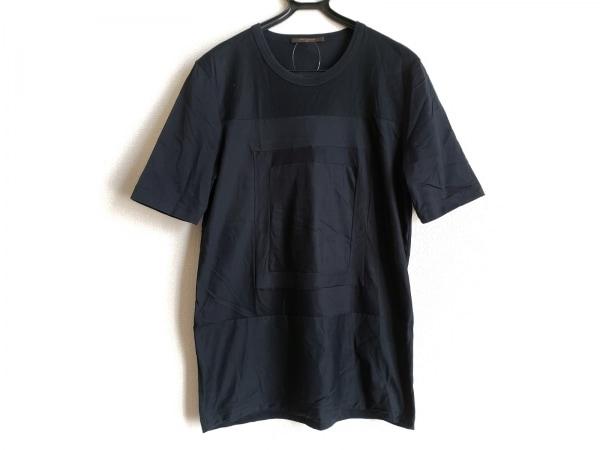 LOUIS VUITTON(ルイヴィトン) 半袖Tシャツ サイズL メンズ 黒 パッチワーク