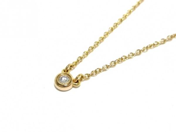 TIFFANY&Co.(ティファニー) ネックレス新品同様  バイザヤード K18YG×ダイヤモンド