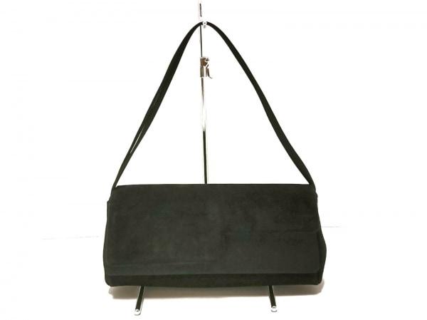BRUNOMAGLI(ブルーノマリ) ハンドバッグ 黒 スエード×サテン