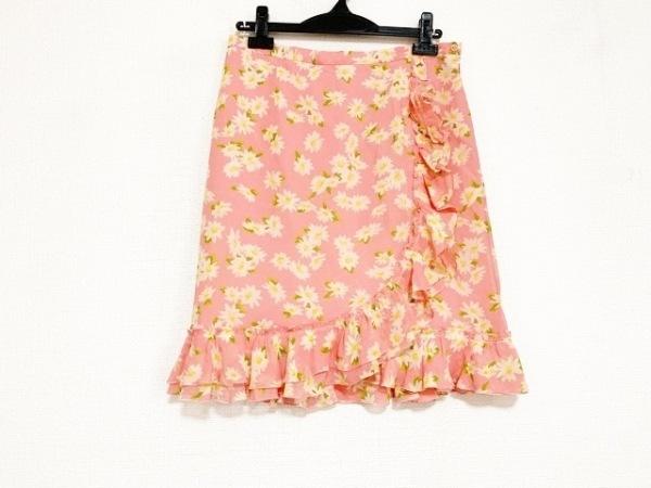 MOSCHINO(モスキーノ) スカート サイズ42 M レディース美品  ピンク 花柄