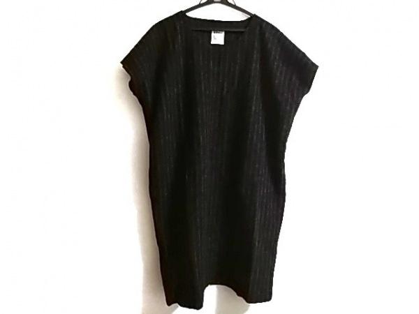 SOU・SOU(ソウソウ) ワンピース レディース美品  黒×グレー ストライプ/貫頭衣