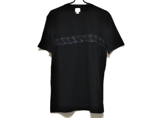アルマーニコレッツォーニ 半袖Tシャツ サイズL メンズ美品  黒×ダークグレー