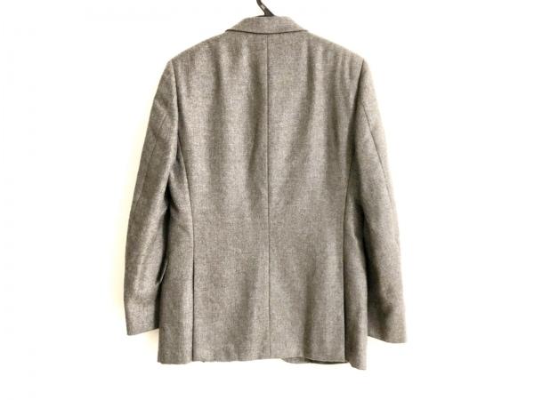 ダンヒル ジャケット サイズ48 XL メンズ美品  グレー×ダークブラウン 肩パッド