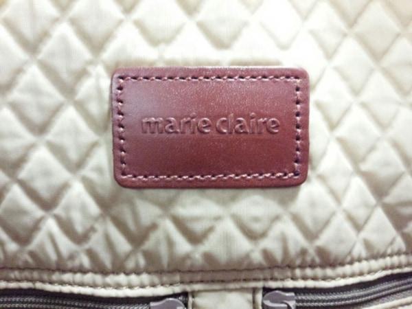 marie claire(マリクレール) ボストンバッグ美品  ブラウン レザー