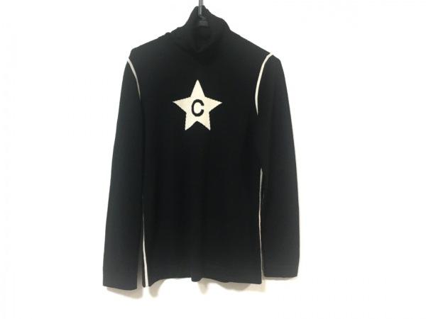 CELINE(セリーヌ) 長袖セーター サイズXL レディース美品  黒×アイボリー