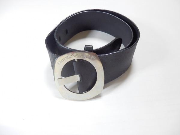 EMPORIOARMANI(エンポリオアルマーニ) ベルト 40 黒 レザー