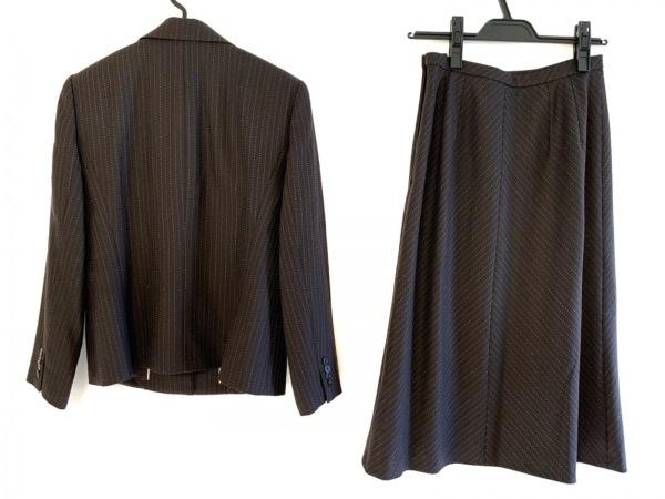 レリアン スカートスーツ サイズ9 M レディース ダークグレー×ブルー×ピンク