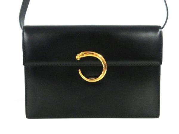 Cartier(カルティエ) ショルダーバッグ パンテール 黒 レザー