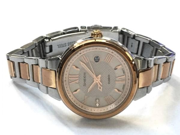 CASIO(カシオ) 腕時計 SHEEN SHE-4516 レディース スワロフスキークリスタル シルバー