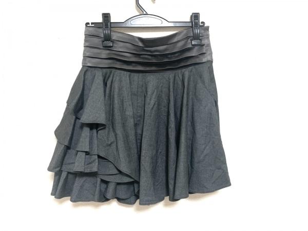 Adonisis(アドニシス) スカート サイズ38 M レディース美品  グレー フリル