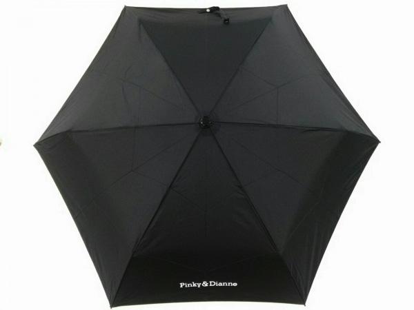 Pinky&Dianne(ピンキー&ダイアン) 折りたたみ傘美品  黒×白 ポリエステル