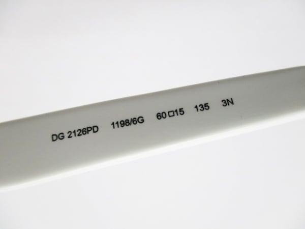 ドルチェアンドガッバーナ サングラス DG2126PD 白×ベージュ×黒 プラスチック