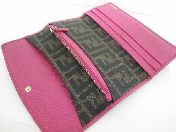 FENDI(フェンディ) 長財布 ズッカ柄 8M0326 ブラウン×黒×ピンク 3